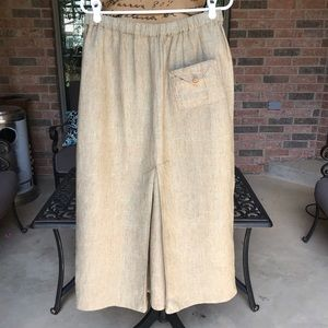 FLAX Linen Maxi Ankle Length Skirt